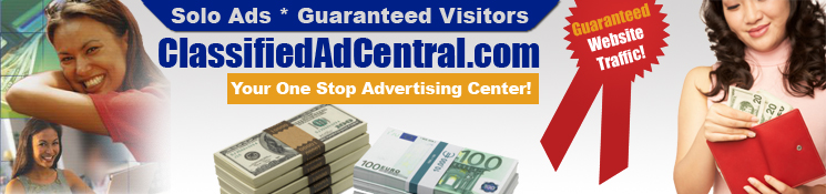 After You Click This Banner You Will Visit My: Classified Ad Central Affiliate Site... You Can get one too for $98 ==> A one time payment! <==